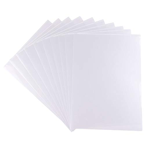 FEPITO 25 piezas A4 corte al ras carpetas plástico transparente cubierta de archivo