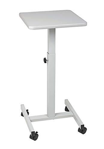 Maul 9331082 beamertafel, OHP-tafel 38 x 38 cm, draagkracht 20 kg, in hoogte verstelbaar, lichtgrijs, 1 stuk