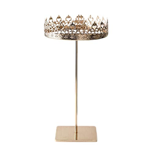 Soporte de exhibición de joyería Joyas de la corona de oro rack de almacenamiento en rack de joyería pendientes colgantes femenina de la decoración estante de exhibición del escritorio de su casa Pant