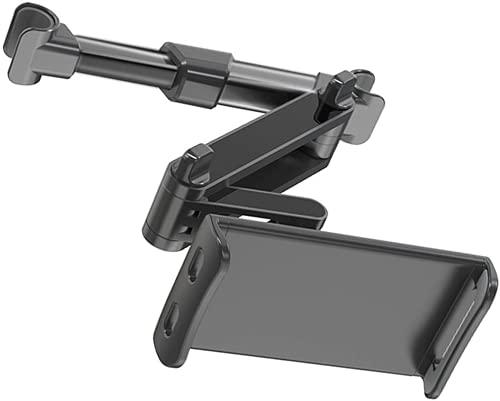 HOPESUNIN Tablet Halterung Auto Kopfstütze, Universal Ausziehbare KFZ Kopfstützen Halterung Unterstüzt Kompatibel mit 4,7-12,9 Zoll Handy Tablet (Ausziehbar) (schwarz)