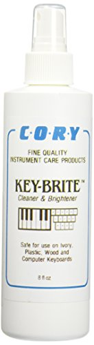 Key-Brite Piano Key Cleaner 8 oz by Cory, Distributed by A Fully Authorized Cory Products Dealer