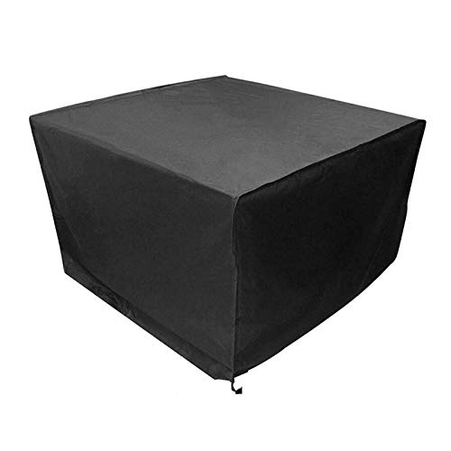 WXFN Rattan Furniture Cover with Drawstring Patio Outdoor Table Covers Oxford Fabric for Square Tables Sofa Daybed Chairs Black,250 * 250 * 90cm