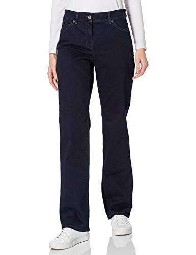 Gerry Weber Damen 5-Pocket Hose Comfort Fit figurumspielend Dark Blue Denim 42