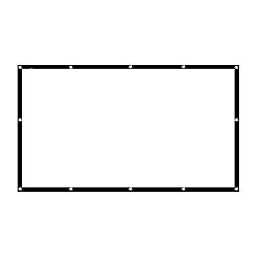 BGYPT Pantalla de proyector HD portátil de 100 Pulgadas / 120 Pulgadas 16: 9 Pantalla de proyección Plegable Espesa Duradera para el Cine en el hogar al Aire Libre (Size : 60 Inch)