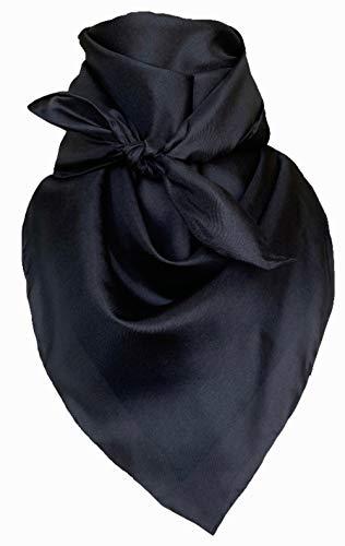 Wyoming Traders Mens Solid Silk Wild Rag Scarf Black 34 inch