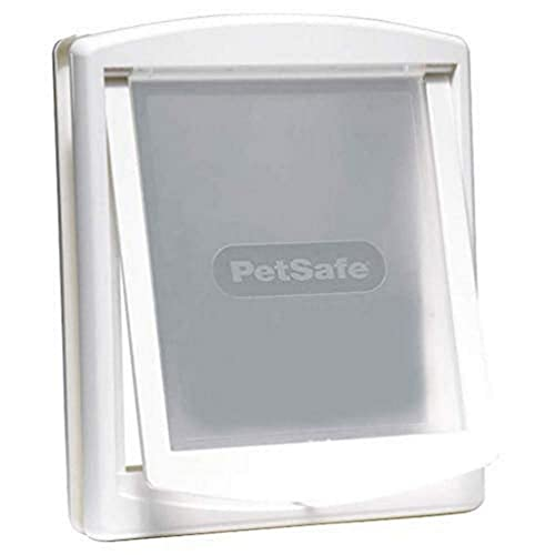 PetSafe 740SGIFD Staywell per l'ingresso e l'uscita di cani e gatti, facilità di montaggio, bianca M