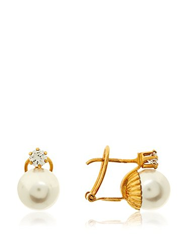 Córdoba Jewels | Pendientes en goldfilled laminado de oro 14/20. Diseño Perla Japonesa Zirconium