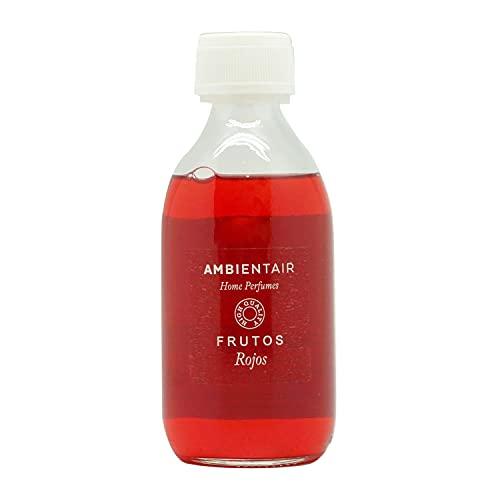 Ambientair Home Perfumes. Recambio para ambientador 250ml. Frutos Rojos. Ambientador Bayas Silvestres. Recambio para difusor de Varillas. Líquido para Rellenar tu ambientador Mikado de palitos. Sin Alcohol.