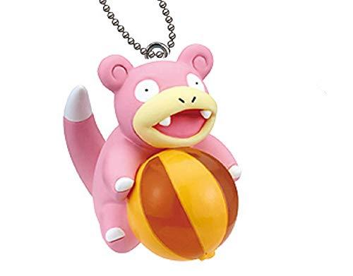 Nintendo Pokemon Giragira Sunshine Beach Ball Mini Swing Keychain Figure~Slowpoke Yadon