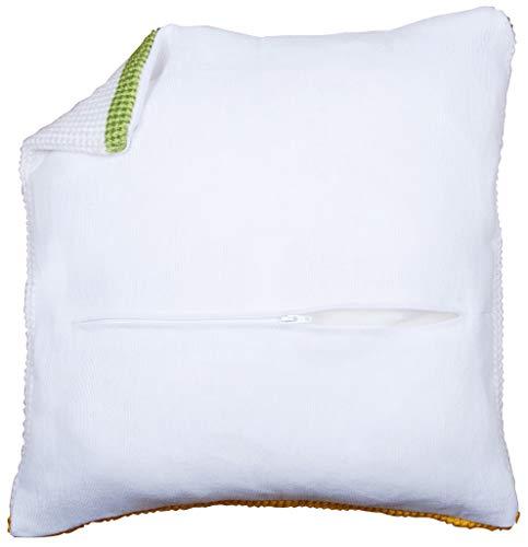 Vervaco Weiß, 45 x 45 Kissenrücken mit Reissverschluss, Baumwolle, Mehrfarbig, 45 x 45 x 0,3 cm