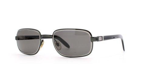 Gianfranco Ferre 468 7JZ Sonnenbrille für Herren und Damen, rechteckig, zertifiziert, Vintage-Stil, Schwarz / silberfarben