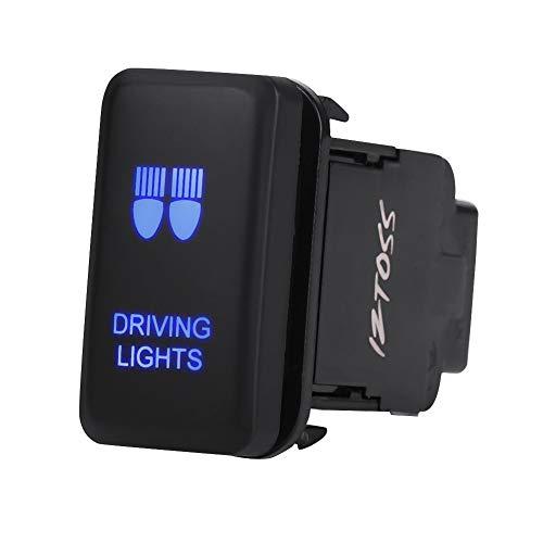 Interruttore a bilanciere per auto, Akozon 12V in plastica ABS impermeabile blu LED auto accensione/spegnimento interruttore a levetta di ricambio per Hilux Landcruiser VIGO(DRIVING LIGHTS)