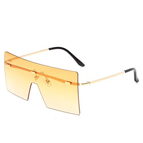 PPCLU Gafas de Sol de Gran tamaño Moda Mujeres Retro Vintage Metal Gafas de Sol Diseño de Lujo Eyewear (Lenses Color : 02)