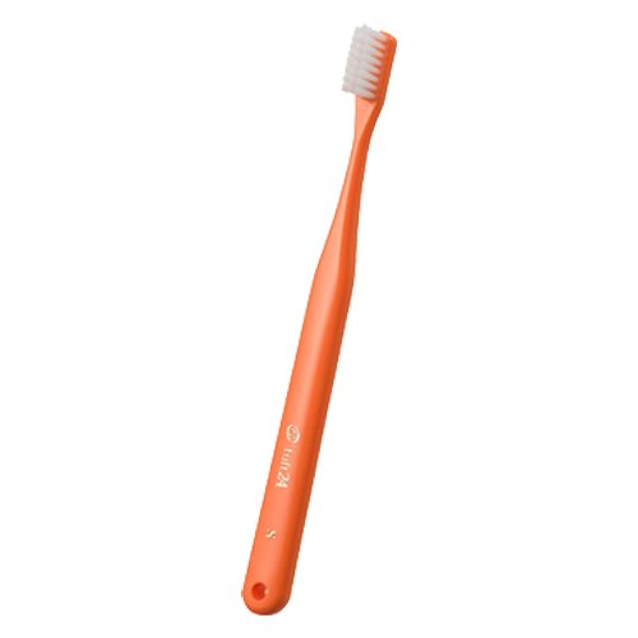ニュースポジションクアッガオーラルケア タフト24歯ブラシ キャップなし 1本 (ミディアム(M)オレンジ)