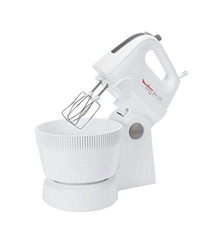 Moulinex HM 6151 Handmixer Powermix Combi/ 500 Watt / 5 Stufen/inklusiv Rührschüssel- und Ständer, weiß/silber
