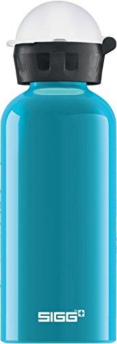 SIGG KTB Waterfall Gourde, Petite bouteille d'eau sans BPA pour enfants et avec bouchon anti-fuites, Gourde en aluminium légère et ultra-résistante, Mixte Enfant, Bleu (Turquoise), M