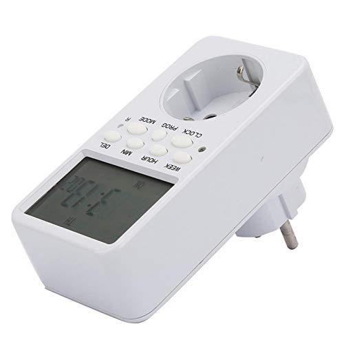 Enchufe temporizador, dispositivo de cuenta regresiva estable y confiable, multifunción segura para ollas arroceras Dispensadores de agua(EU Plug, pink)