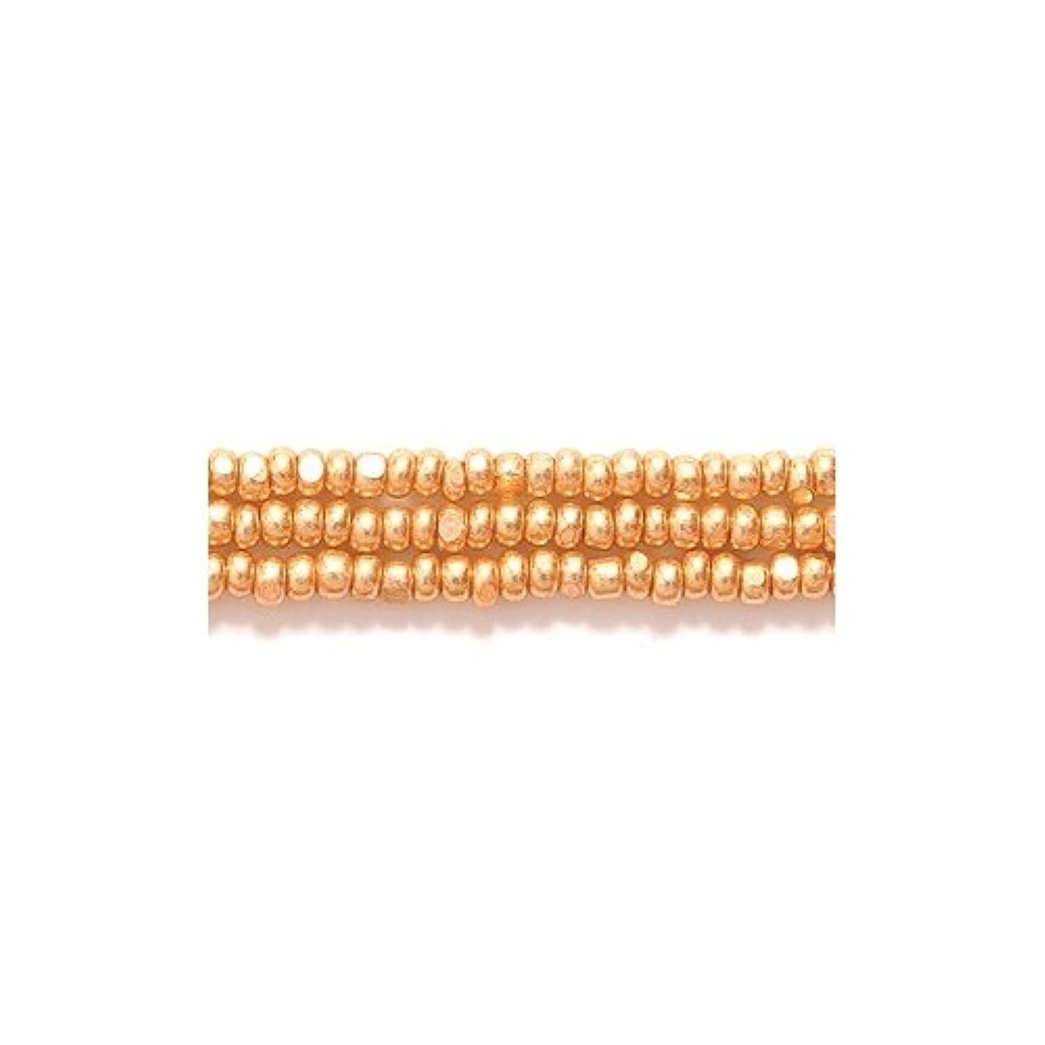 Preciosa Ornela Czech Seed Bead, True Cut Metallic Gold, Size 11/0