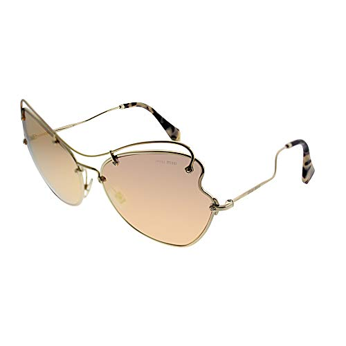 Miu Miu 0MU56RS ZVN6S0 61 Gafas de sol, Dorado (Pale Gold/Brown Rose Gold), Mujer