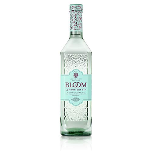 BLOOM London Dry Gin 40% vol., Qualitäts Gin mit fruchtig-floraler Note, Premium Gin, entwickelt von Master Distiller Joanne Moore (1 x 0.7 l)