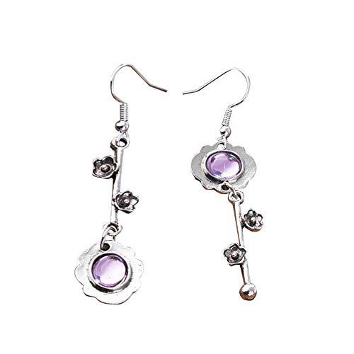 Pendientes de cristal natural, pendientes para mujeres y niñas, juego de joyería para el día de San Valentín, 4 cm