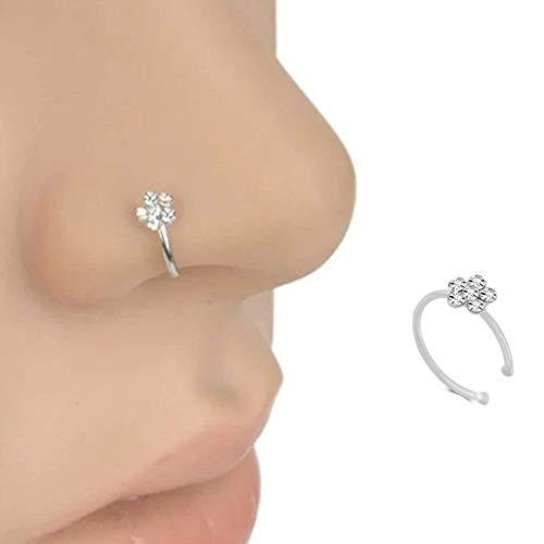 Romote anillo de nariz de acero quirúrgico de flores Lover joyería de las mujeres de la perforación del cuerpo de aro