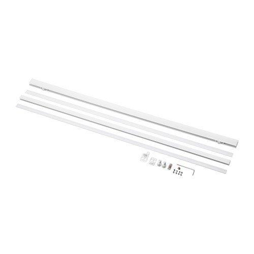 IKEA Laufleiste KVARTAL mit Beschwerung für Schiebegardinen (weiß)