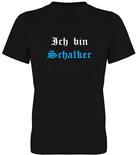 Ich Bin Schalker - EIN Leben lang Fan-T-Shirt Unisex Herren mit Rückendruck (078.019) (L)