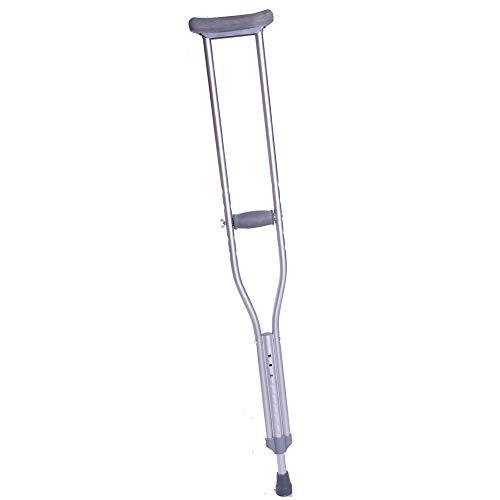 Queraltó Muleta Axilar| Metálica de Aluminio Muy Resistente| para Joven 100/123 cm| Regulable en Altura| Cómoda| con Almohadillas antidolor | 1 Unidad 🔥