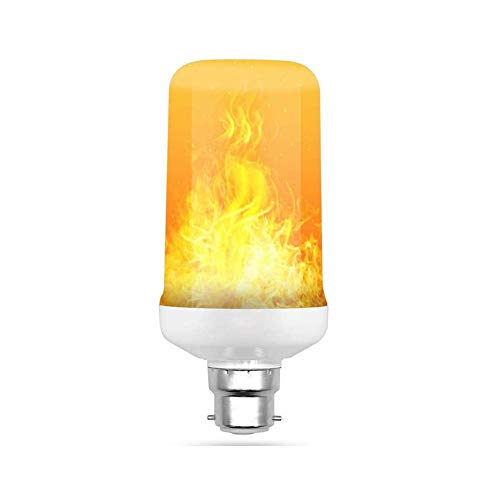 shuxuanltd Flame bulb e27/e24/b22 Flame effect light bulb Light Bulbs Flame Effect Bulb Led Flame Bulbs Bayonet Light Bulbs Simulation dynamic flame bulb KTV bar home decoration gravity sensor