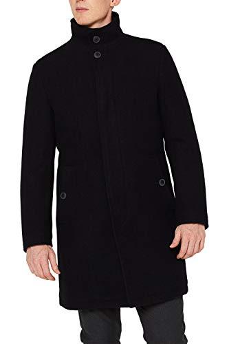 Esprit 109EE2G003 Abrigo, Negro (Black 001), Large (Talla del Fabricante: 50) para Hombre