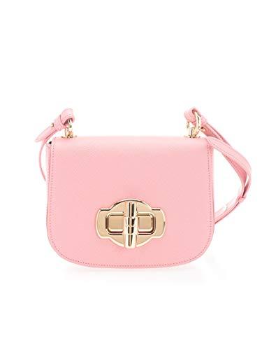 Luxury Fashion | Prada Dames 1BD239VOLO2A4AF0442 Roze Leer Schoudertassen | Lente-zomer 20