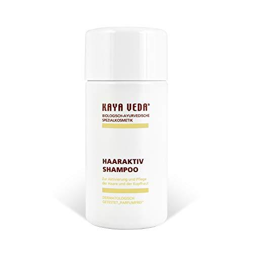 KAYA VEDA Haaraktiv-Shampoo gegen trockene Haare (150 ml) / Haarwuchsmittel für Männer und Frauen/Silikonfreies Shampoo/Haarausfall-Shampoo/Shampoo gegen trockene Kopfhaut/Haarwachstum