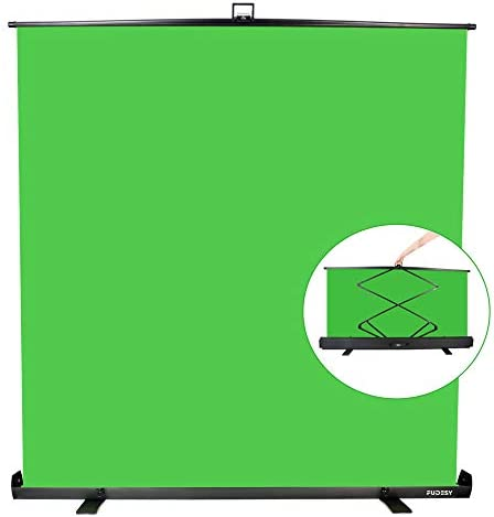 FUDESY Green Screen 75 x74 Portable Collapsible Chroma Key Panel with Auto locking Frame Aluminum product image