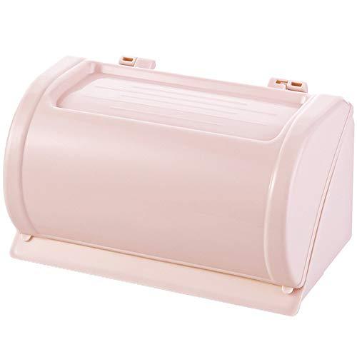 Pmrioe Schlagfreier, spritzwassergeschützter Toilettenpapierkorb Papierkorb Hygienebehälter Saugnapf Rollfach Toilettenfach - pink