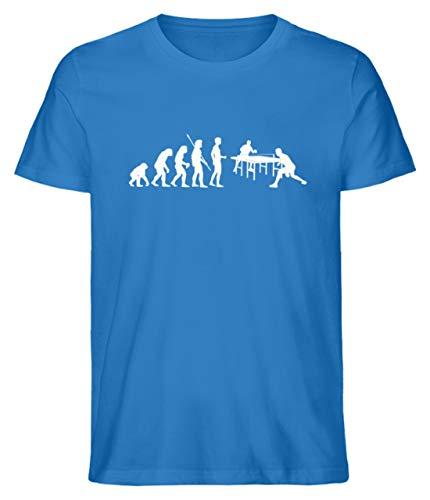 Tischtennis: Evolution Tischtennisspieler - Herren Shirt -M-Royalblau