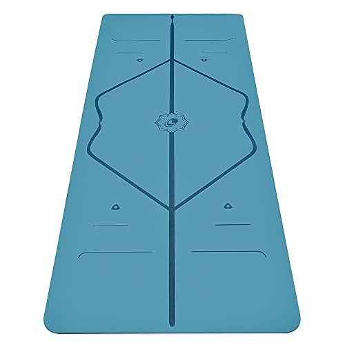 Liforme Original Yoga Mat – Free Yoga Bag Included - Patented Alignment System, Warrior-like Grip, Non-slip, Eco-friendly and...