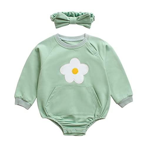 UMore Ropa para bebés Niños Niñas Ropa de una pieza Traje de cuerpo Primavera Otoño Pijamas de manga larga