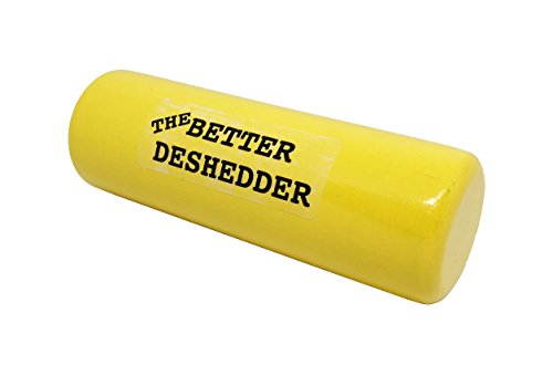 The Better Deshedder Twin Blade Dog Grooming Brush Reduces Shedding by 90%!! (Yellow)