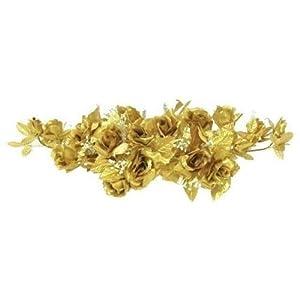 Rose Swag Gold Wedding Table Centerpiece Silk Flowers Arch Gazebo Artificial OSW01