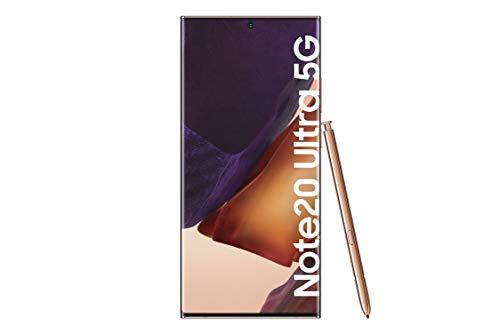 Samsung Galaxy Note 20 Ultra 5G Android Smartphone ohne Vertrag Triple Kamera Infinity-O Display 512 GB Speicher starker Akku Handy in bronze [Exklusiv bei Amazon]