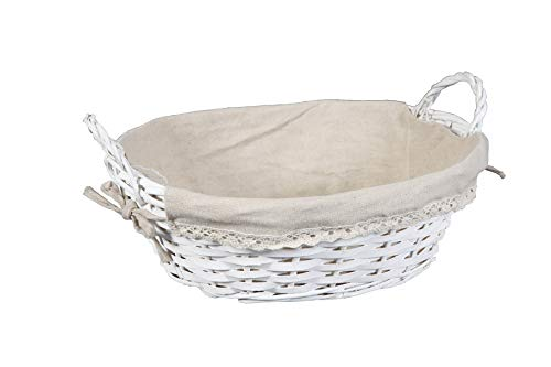 thesecrethome.es PANERA Mimbre Blanca-Beige | 32X25X12 con ASA=15 cm