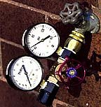 Dual Water Gauge - Pressure (PSI) and Flow (GPM) in One