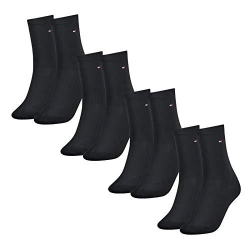 Tommy Hilfiger Damen Socken, Classic, Strümpfe, 8er Pack (Dunkelblau, 35-38 (8 Paar))