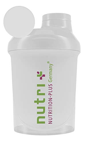 Nutrition plus protein shaker (transparent), BPA free