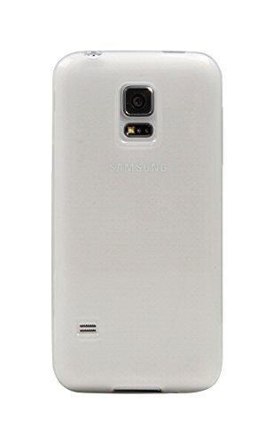 Ektor Carcasa Case Silicona Cover Funda Para Samsung Galaxy S5Mini Inner Scrub - Weiß