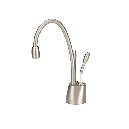 InSinkErator Contemporary Instant Hot and Cold Water Dispenser Faucet, Satin Nickel, F-HC1100SN