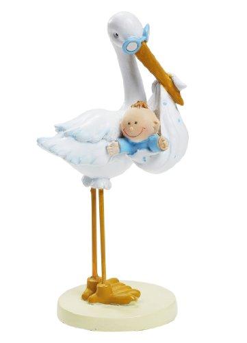Storch mit Baby Boy ca 11 cm Tortendeko Tischdek