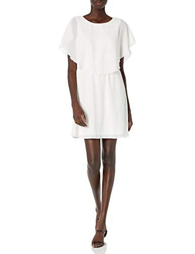 VERO MODA Damen VMMIRA S/S Short Dress D2-4 Kleid, Weiß (Snow White Snow White), 34 (Herstellergröße: XS)