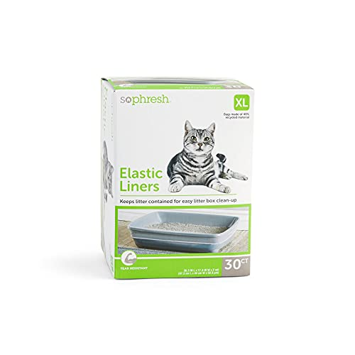 Petco Brand - So Phresh Elastic Litter Liners for Cats, 38.3' L X 17.3' W, Count of 30, X-Large